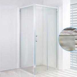 box doccia scorrevole con parete fissa