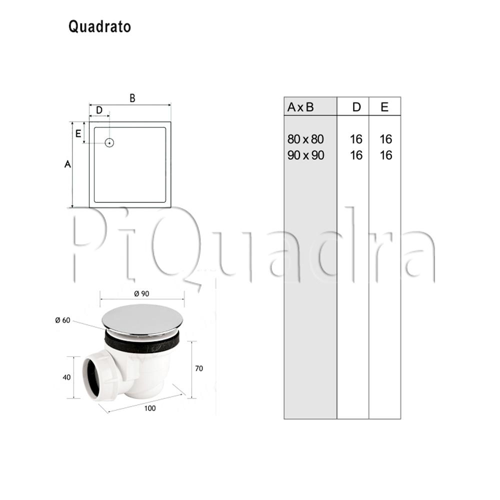 scheda piatto doccia quadrato h5