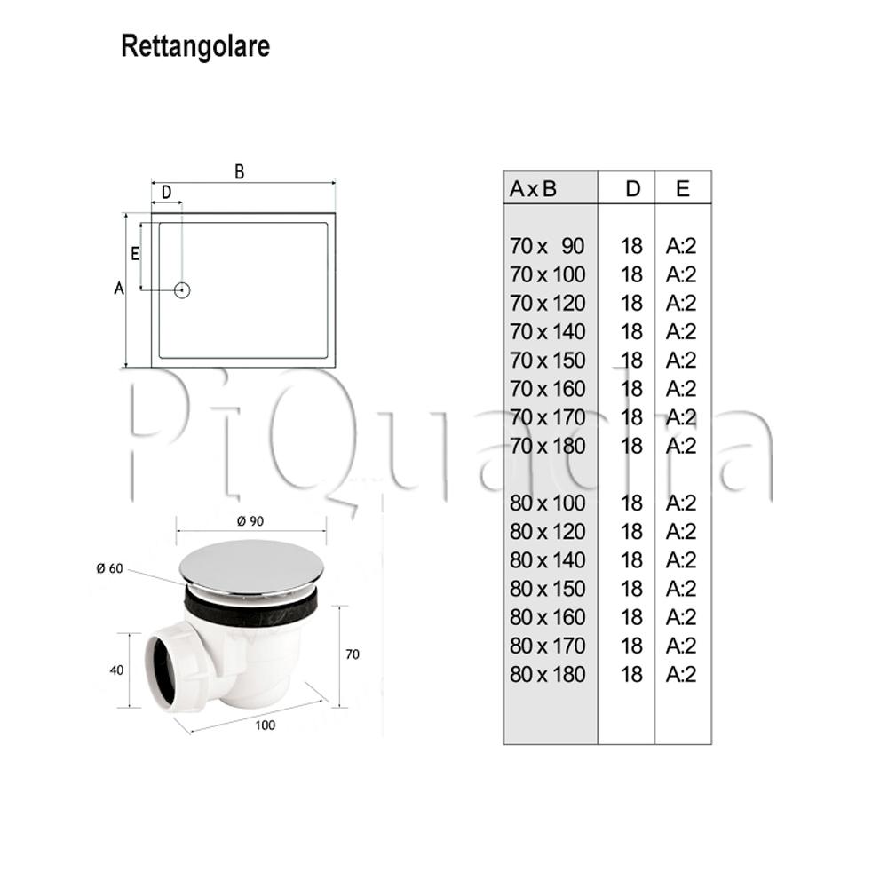 scheda piatto doccia rettangolare h5